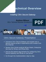 Partner - Installing CSG v1.1