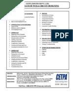 CETPA-PCB & Circuit Designing Training