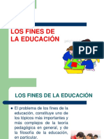 LOS FINES DE LA EDUCACION - PEDAGOGIA GENERAL - copia.ppt