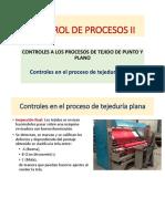 3.1 Controles en el proceso de tejeduría plana.