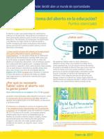 Cómo incluir el tema del aborto en la educación - Puntos esenciales