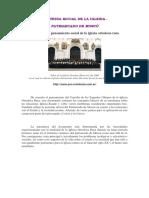 Las bases del pensamiento social de la iglesia ortodoxa rusa