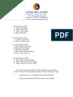 Quotations for San Leonardo Nueva Ecija  April 2019  Discounted Rates