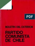 Boletín del Exterior Partido Comunista de Chile Nº49