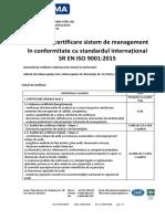 Oferta Certificare Systema - ISO 9001 - ALDA TEHNO STEEL SRL