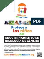 El folleto que reparte Hazte Oír contra las charlas de igualdad, diversidad sexual y educación sexo-afectiva