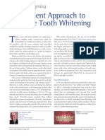An Efficient Approach to in Office Tooth Whitening