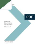 2020 MDOT Performance Audit - With MDOT Response