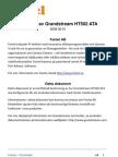 Fontel Konfiguration Grand Stream HT502 ATA