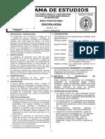 Pensum Sociología - USAC - Ciencias Jurídicas