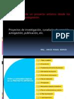 FORMULACIÓN DEL P. ARTÍSTICO
