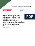 La Tercera - BBC - Resilencia Chilenos