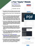 inquiry website setup instructions - ed 110
