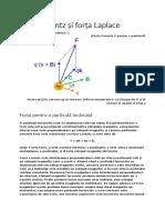 Forța Lorentz și forța Laplace.odt
