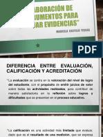 ELABORACIÓN DE INSTRUMENTOS PARA EVALUAR EVIDENCIAS
