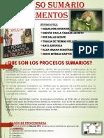 PROCESO SUMARIO DE ALIMENTOS