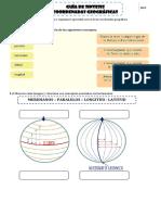 Guía de Sintesis  N° 1 - Cuarto Básico (Coordenadas Geográficas)