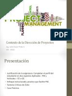 1 Contexto de la Dirección de Proyectos