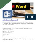 Word QCM P6
