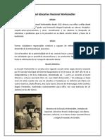 Reseña Histórica de la Escuela Nacional Wohnsiedler, Barquisimeto, Lara, Venezuela.