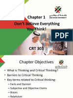 Don't Believe Everything You Think! Chapter 1