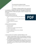 Factores que inciden en la ocurrencia de los accidentes de trabajo