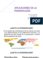 Usos y aplicaciones de epidemiologia