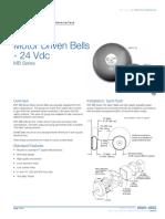 85001-0503 - Motor Driven Bells - 24 Vdc - MB Series