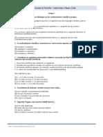Filosofia - Exercícios de Exame Nacional Indutivismo, Popper e Kuhn.