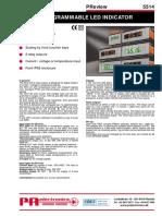 Programmable LED indicator 5514uk