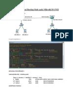 Konfigurasi Routing Static pada Mikrotik Di GNS3
