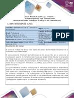 Syllabus del curso Trabajo de Grado (Lic. en Matemáticas)