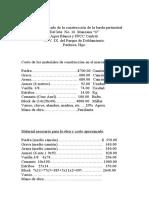 Costo aproximado de la construcción de la barda perimetral
