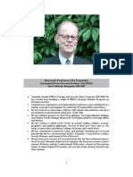 Ola Tunander (Parapolitics - ''Deep State'' Researcher) -- Short Scholarly Biography 1985-2007