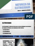 AULA 01 - CORRENTES ELÉTRICAS