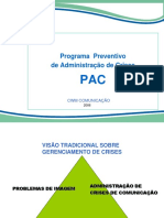 1 - CONTEÚDO PARA PARCEIROS OPERACIONAIS - PROGRAMA DE GERENCIAMENTO E ADMINISTRAÇÃO DE CRISES - GERAL