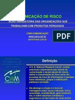 2 - CONTEÚDO PARA PARCEIROS OPERACIONAIS - COMUNICAÇÃO DE RISCO.ppt