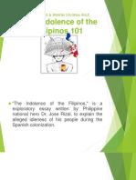 Indolence of Filipino 101