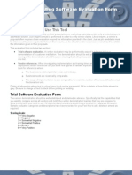 Software QA 1.2.4 Functional Testing Software Evaluation Form