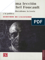 Lagasnerie- La última lección de Michel Foucault Sobre neoliberalismo, la teoria y la politica