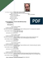 Curriculum Vitae from Ricardo Abreu (EN)