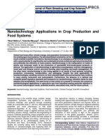 Nanotechnology Applications in Crop Production and Food Systems