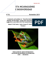 """Comments and updates to """"Guía Ilustrada de Anfibios y Reptiles de Nicaragua"""" along with taxonomic and related suggestions associated with the herpetofauna of Nicaragua"""