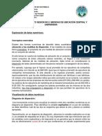 Estadística aplicada a las finanzas - Material de Apoyo Sesión No. 2
