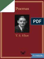 Poemas - T S Eliot
