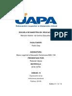 Tarea 6 de Marco Legal de la Educación Dominicana MGC-102...docx