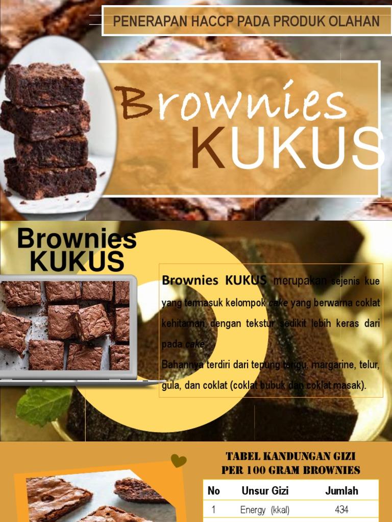 Brownies Kukus Haccp 1 Ppt