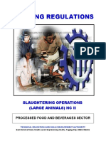 Slaughtering Operations (Large Animals) NC II