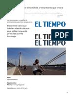 eltiempo.com-Así se convocará el tribunal de arbitramento que critica Vargas Lleras
