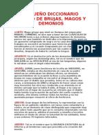 PEQUEÑO DICCIONARIO MAGICO DE BRUJAS